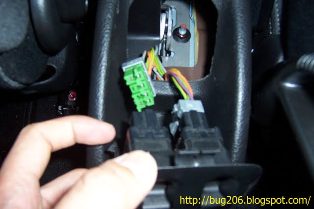 Peugeot 206 Clock Wiring Diagram : Dismantling the gear handbrake console u peugeot naza